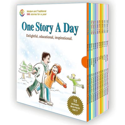 One Story A Day Series Package [12 Books with CDs]
